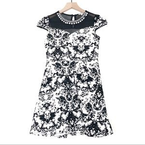 Monteau Girl | Formal Dress with Floral Pattern
